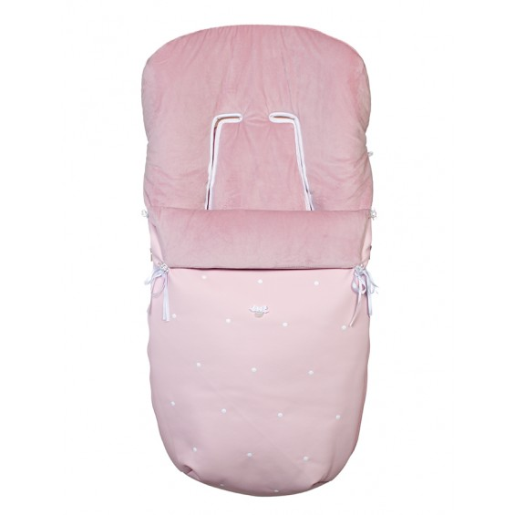 Saco silla CUIR rosa empolvado