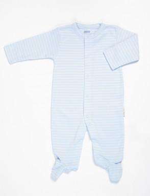 Pijama algodon pima raya sky