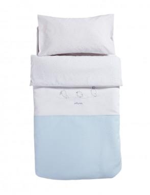 Funda nordica  Piu Piu  azul, bajera y almohada