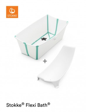 Flexi Bath con soporte blanco-verde