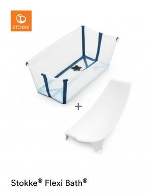 Flexi Bath con soporte transparente-azul
