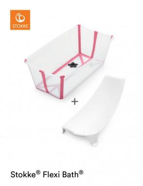Flexi bath con soporte transparente rosa
